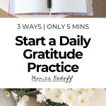 start a daily gratitude practice