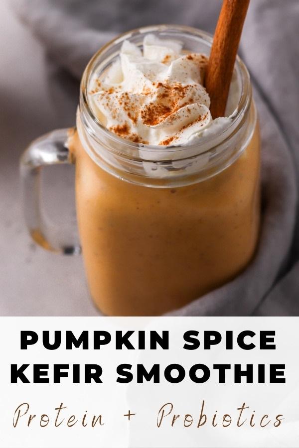 pumpkin protein smoothie pin