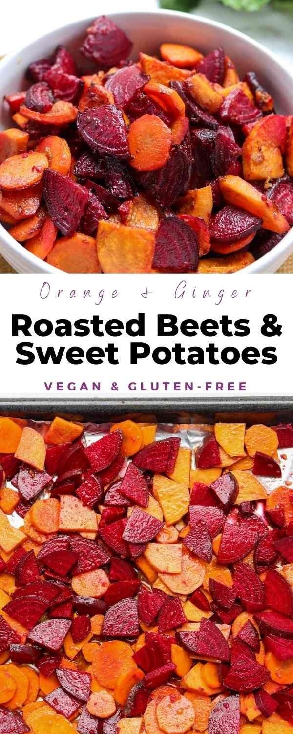 roasted beets and sweet potatoes pin