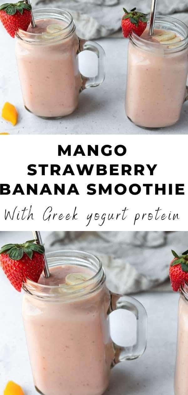 strawberry mango smoothie pin