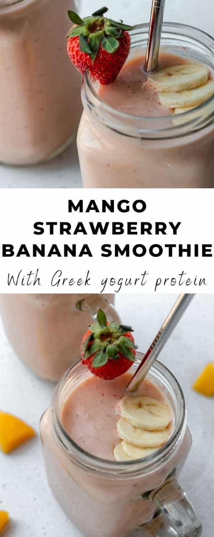 mango strawberry smoothie pin