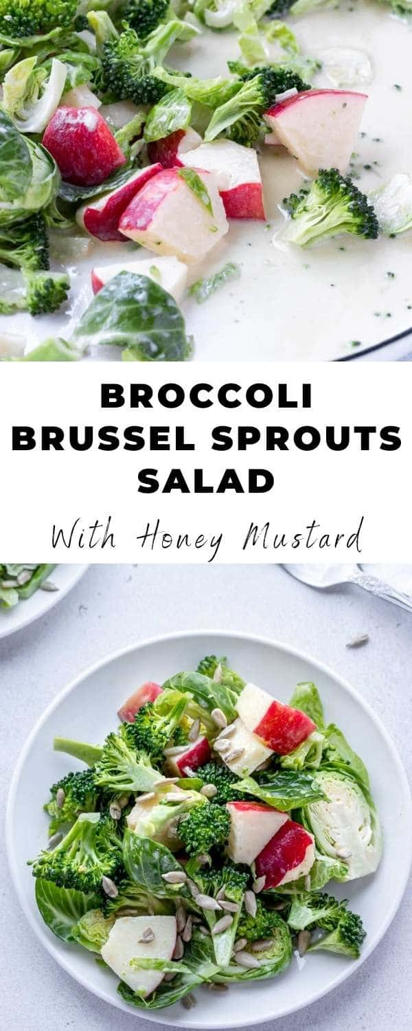 broccoli and brussel sprouts salad pin