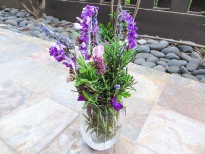 Lavender bundle in a jar