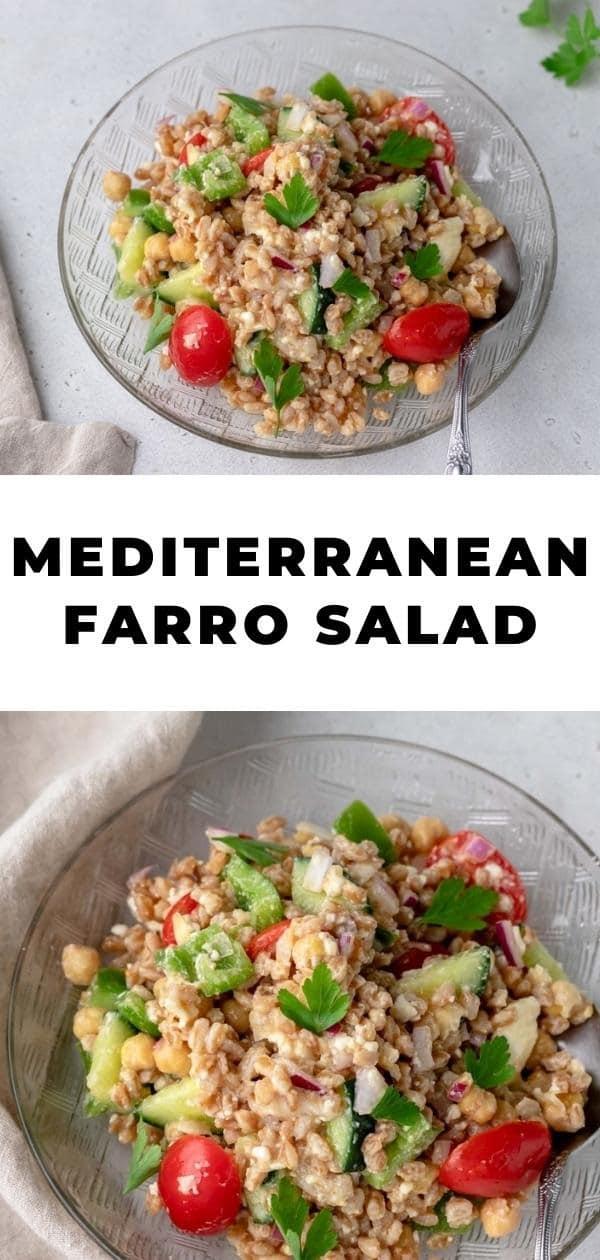 farro salad pin