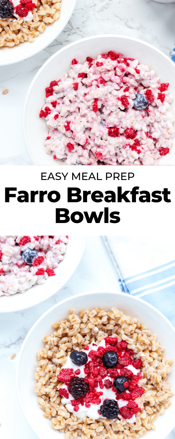 farro breakfast bowl pin