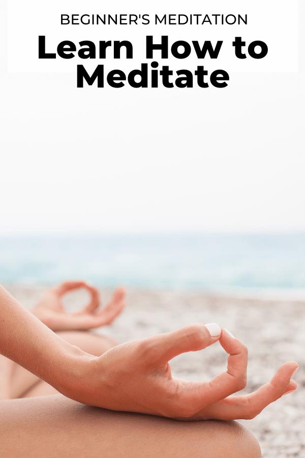 beginner's meditation pin
