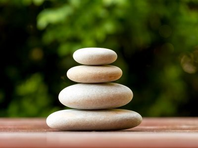 meditation stones siting on top of each other