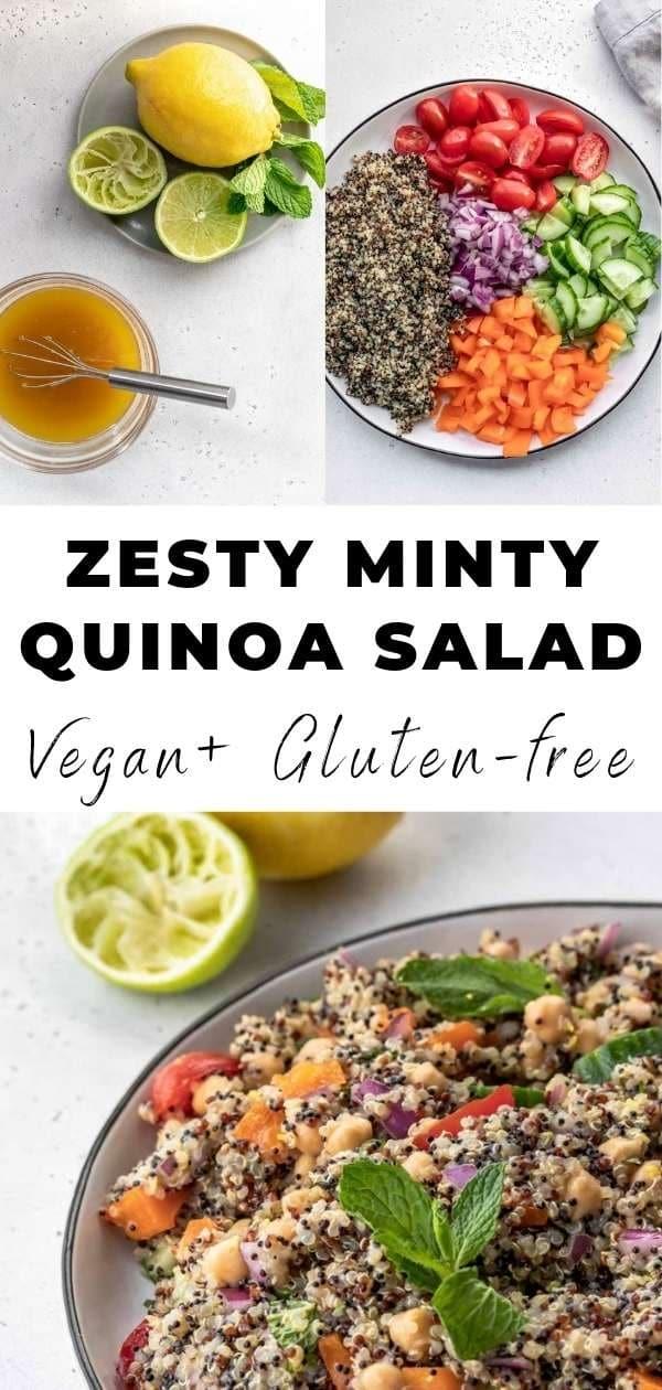 zesty minty quinoa salad pin