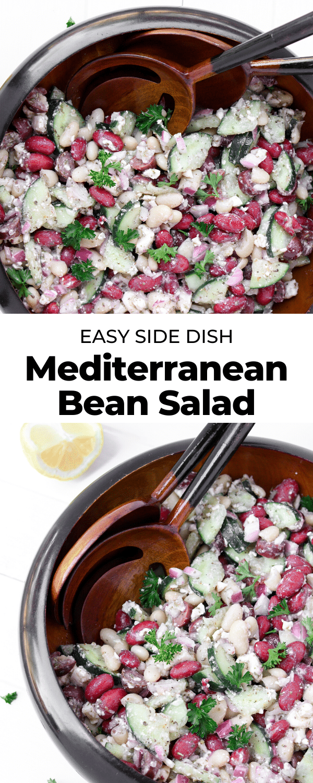 mediterranean bean salad pin