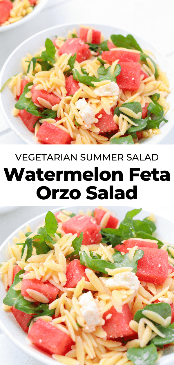 watermelon arugula salad with feta cheese pin
