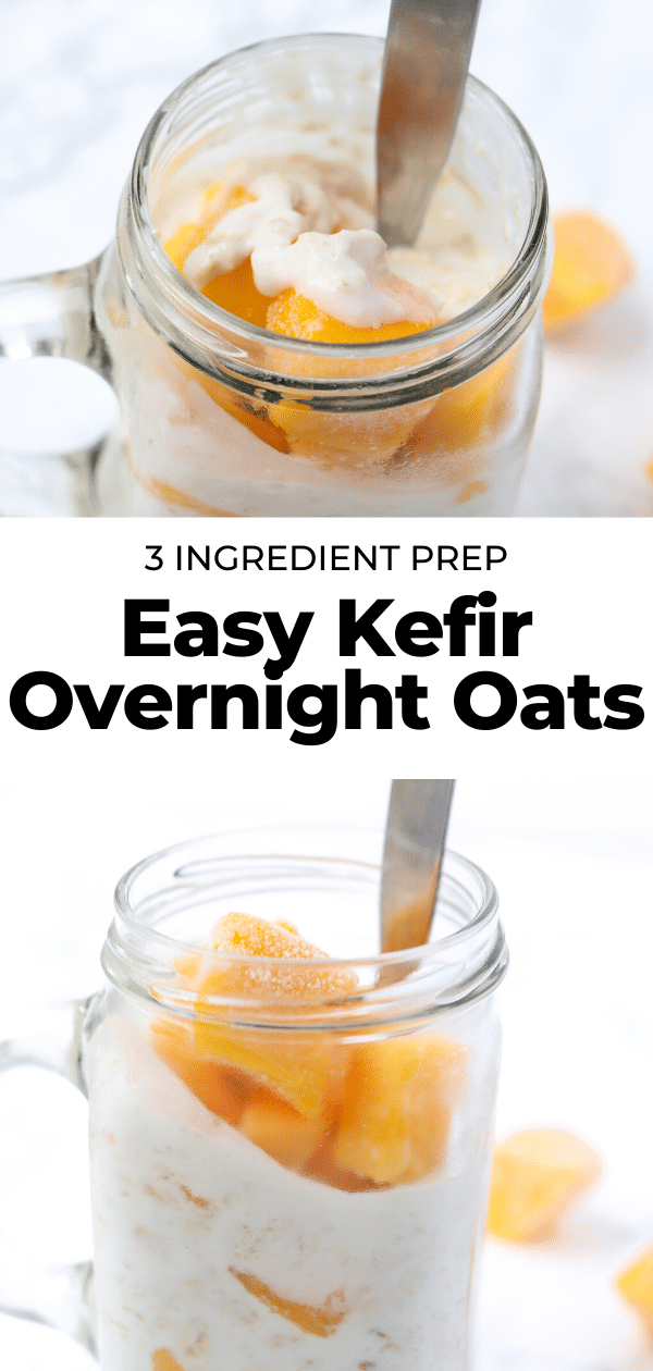 easy kefir overnight oats pin