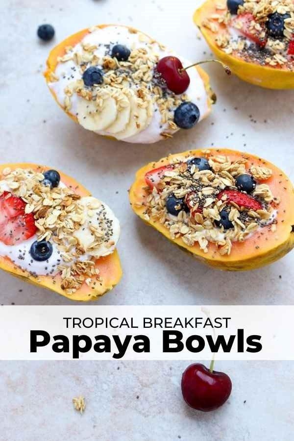papaya breakfast bowl pin
