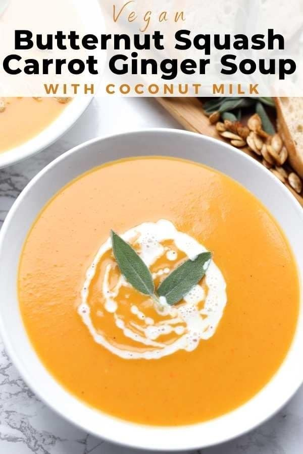 butternut squash soup with coconut milk pin