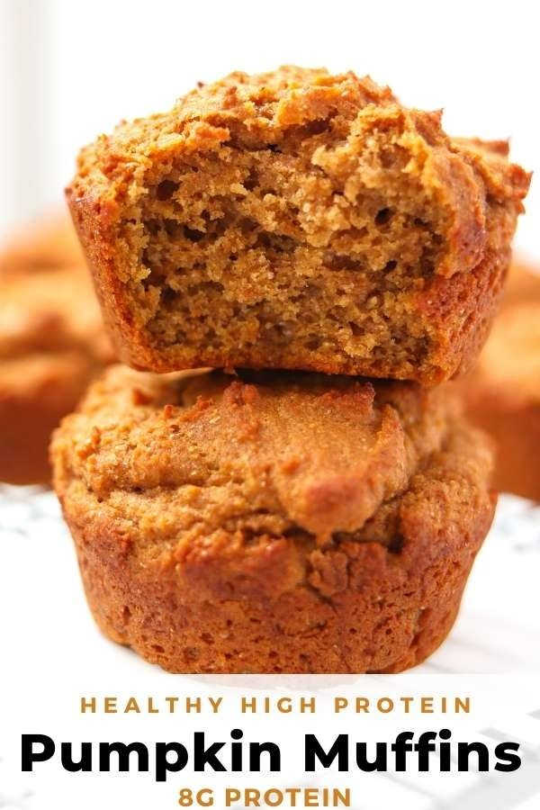 healthy pumpkin protein muffin pin