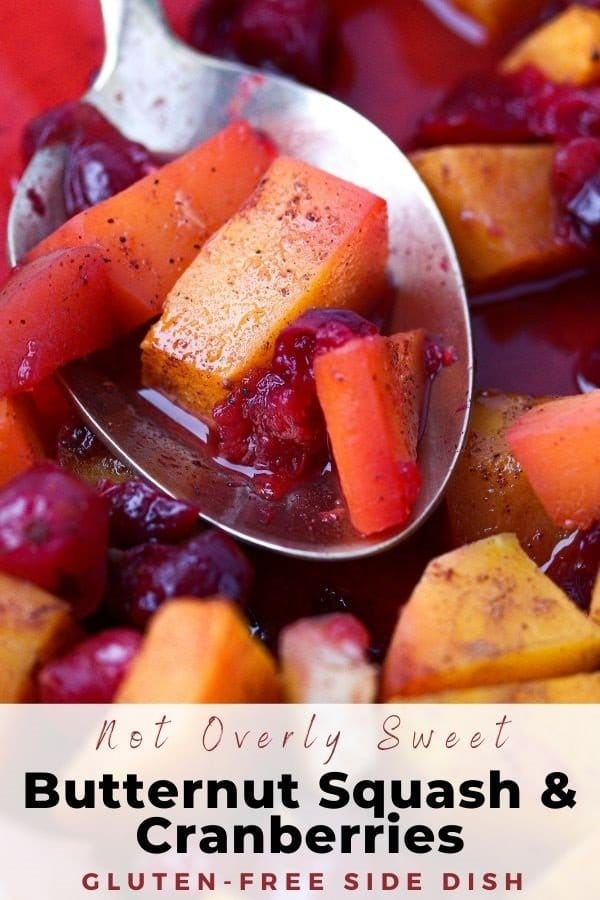 butternut squash and cranberries pin