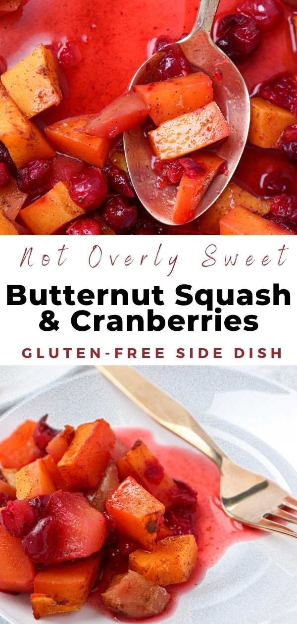 roasted butternut squash cranberries and apples pin