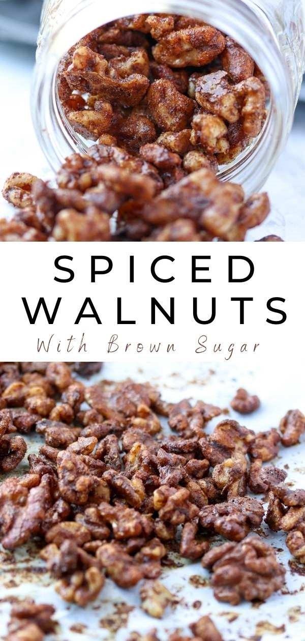 holiday spiced walnuts pinterest pin