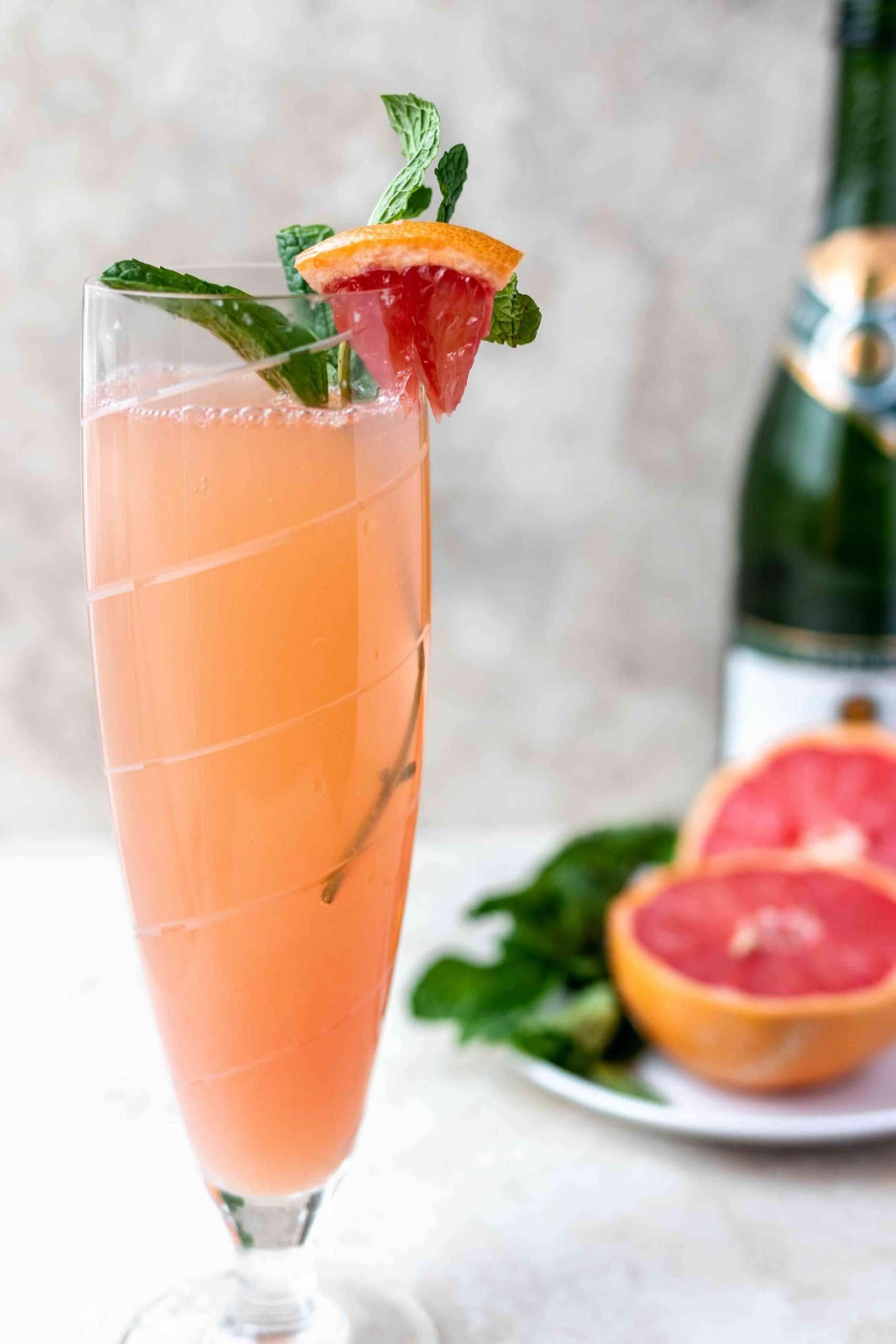 mimosa with grapefruit juice