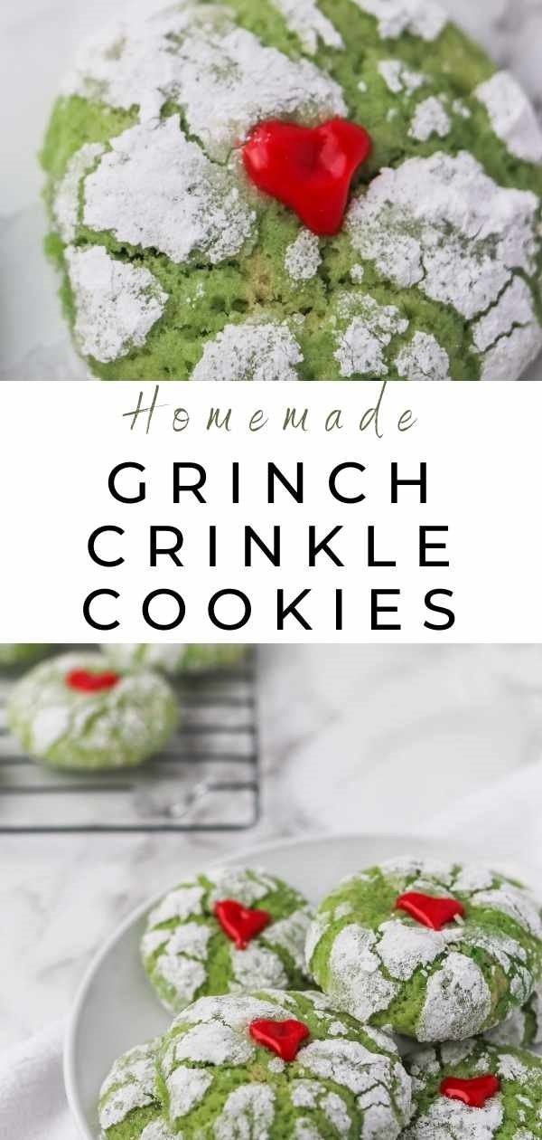 grinch crinkle cookies pin