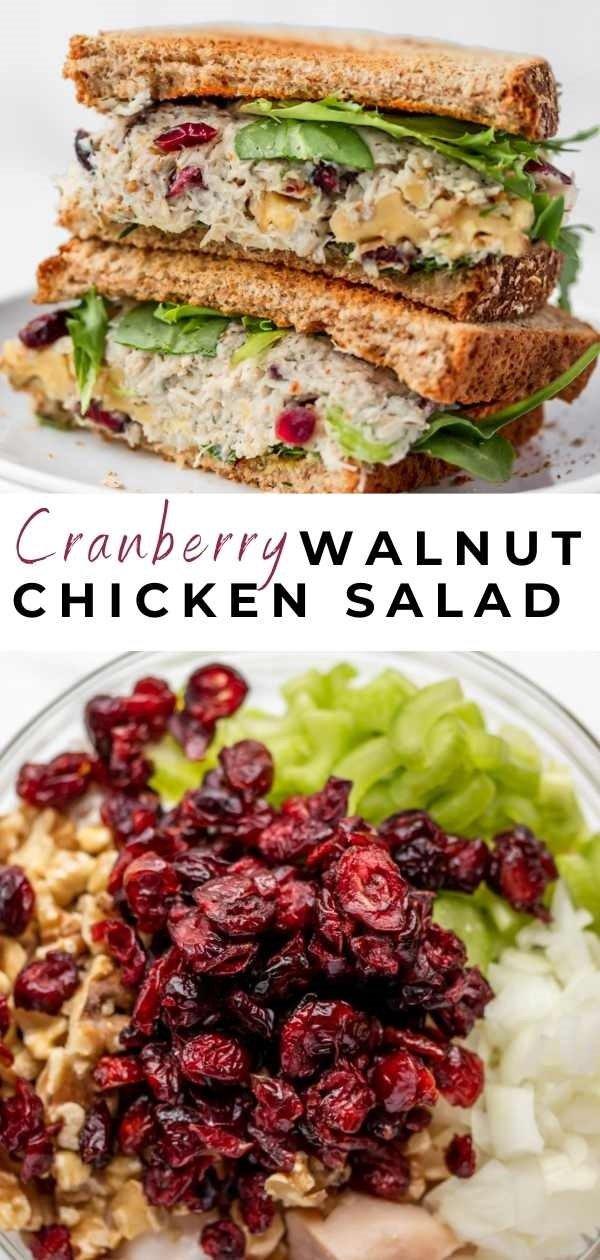 cranberry chicken salad pin