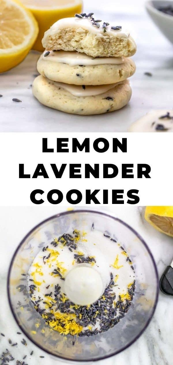 lavender lemon cookies pinterest pin