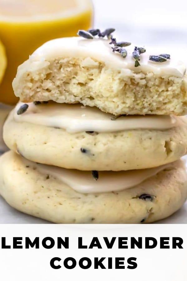 glazed lavender cookies pinterest pin