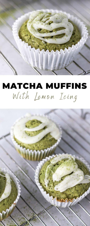 matcha muffins pinterest pin