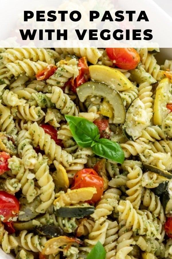 pasta with veggies pin