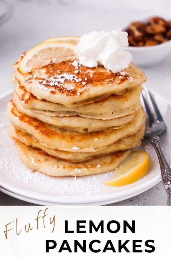 fluffy buttermilk pancakes pin