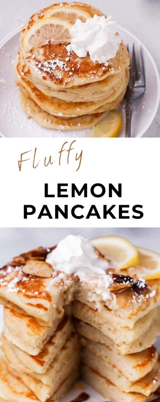 lemon pancakes pinterest pin